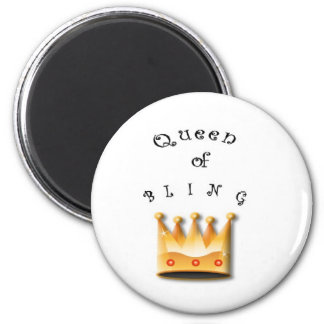 Queen of Bling Coaster 6 Cm Round Magnet