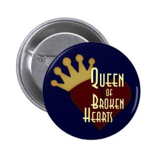 Queen of Broken Hearts Pinback Buttons