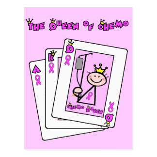 Queen of Chemo - Breast Cancer Pink Ribbon Postcard