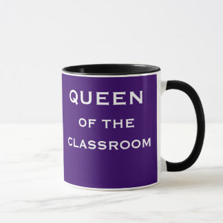 Queen of Classroom Special Female Teacher Title Mug