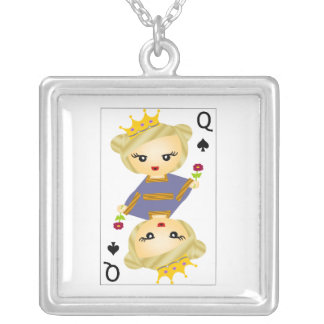 Queen of Clubs Pendant