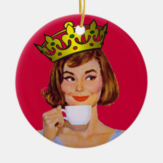 Queen of Coffee Ornament