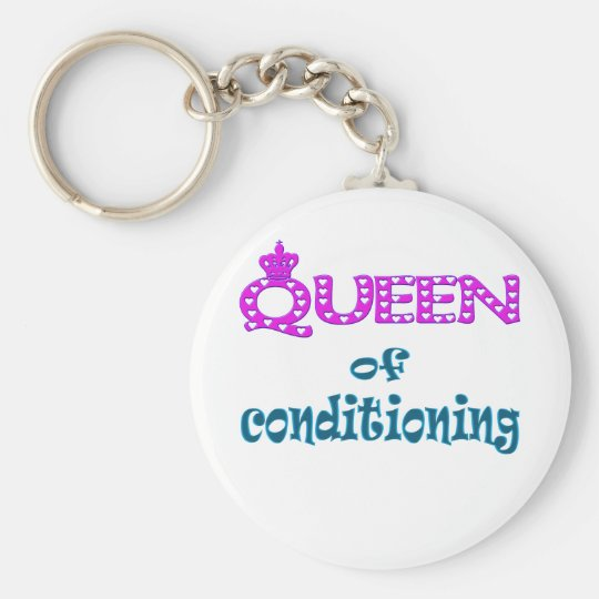 Queen of Conditioning Basic Round Button Key Ring