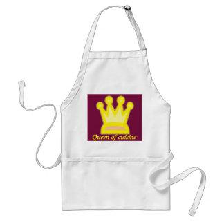 Queen of cuisine adult apron