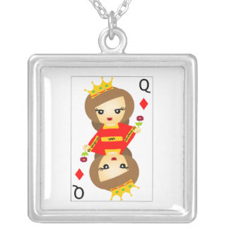 Queen of Diamonds Personalized Necklace
