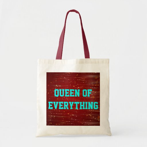 Queen Of Everything Budget Tote Canvas Bag