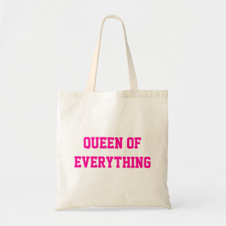 Queen Of Everything Budget Tote Canvas Bags