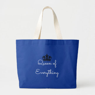 Queen of Everything Crown Jumbo Tote