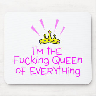 Queen of Everything Crown Mouse Mat