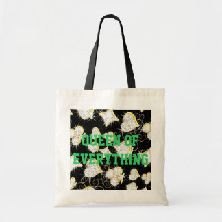 Queen Of Everything Diamonds Budget Tote Canvas Bags