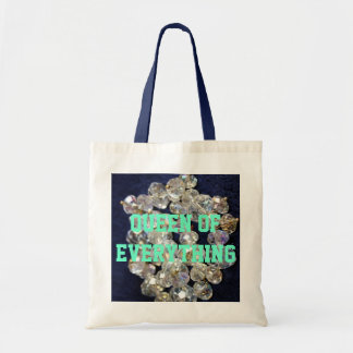 Queen Of Everything Diamonds Budget Tote Bags