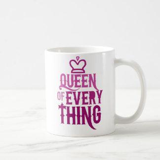 Queen of Everything Basic White Mug