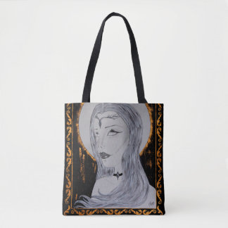 Queen of Gold - Inked Art Tote Bag