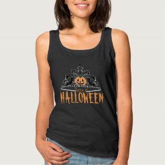 Queen of Halloween- Tank Black