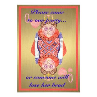 Queen of Hearts 13 Cm X 18 Cm Invitation Card