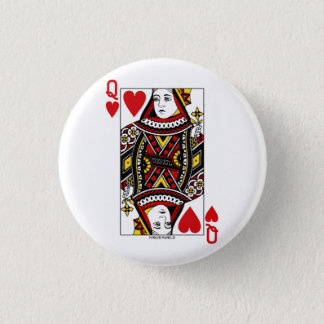 Queen of Hearts 3 Cm Round Badge