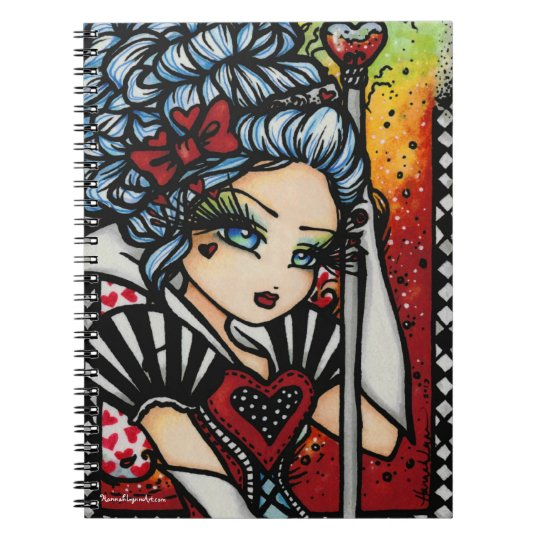 Queen of Hearts Alice Girl Fairy Fantasy Notebook