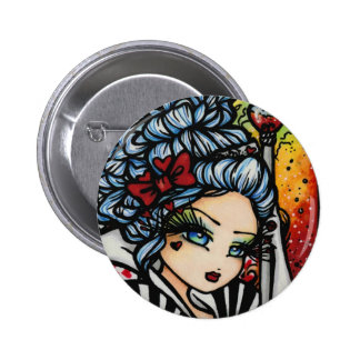 Queen of Hearts Alice Valentine Fairy Fantasy 6 Cm Round Badge
