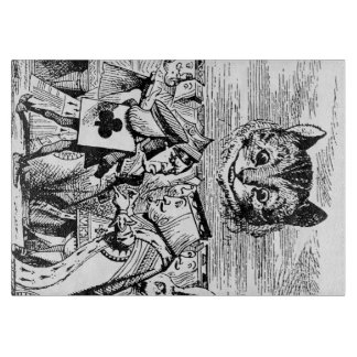 Queen of Hearts and Cheshire cat Cutting Board