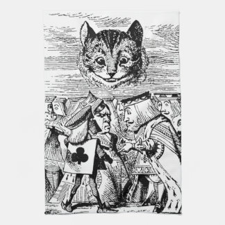 Queen of Hearts and Cheshire cat Tea Towel
