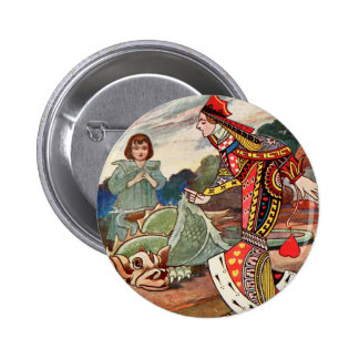 Queen of Hearts and the Gryphon 6 Cm Round Badge