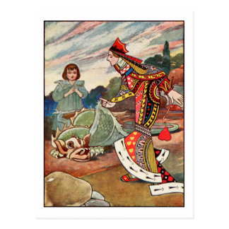 Queen of Hearts and the Gryphon Postcard