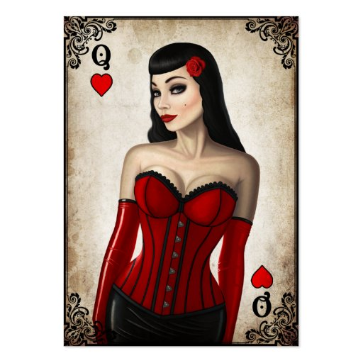 Queen of Hearts - Business Card Business Card Templates