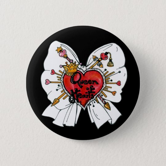 Queen of Hearts Button
