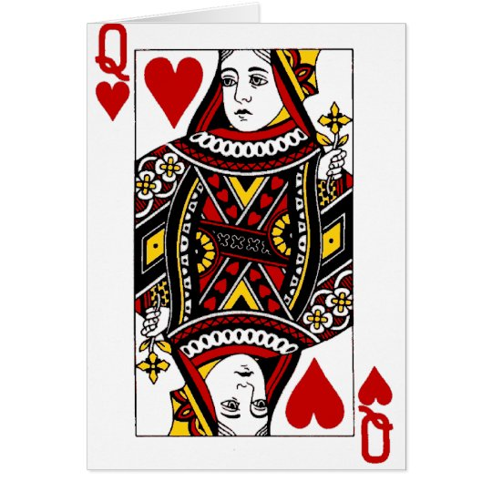 Queen of Hearts Card