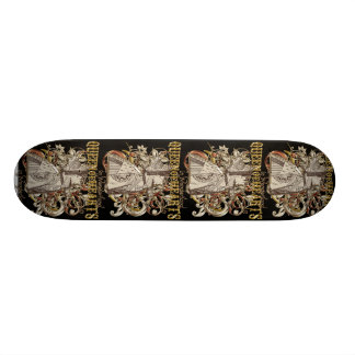 Queen of Hearts Carnivale Style (Gold Version) 18.1 Cm Old School Skateboard Deck