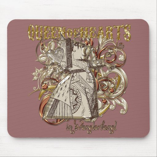 Queen of Hearts Carnivale Style (Gold Version) Mouse Pad