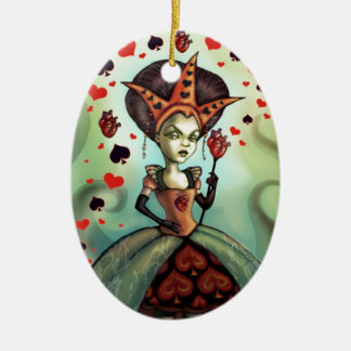 Queen of Hearts Ceramic Oval Decoration