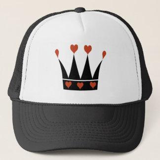 Queen of Hearts Crown Trucker Hat