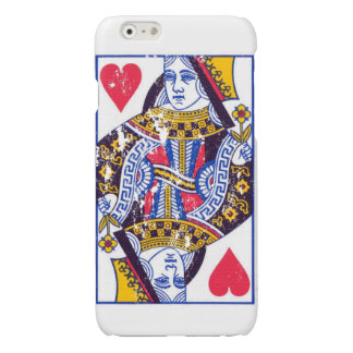 Queen of Hearts distressed Case iPhone 6 Plus Case