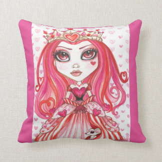 Queen Of Hearts Fantasy Art Pillow