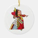 Queen of Hearts from Alice in Wonderland Round Ceramic Decoration