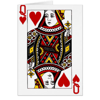 Queen of Hearts Greeting Cards