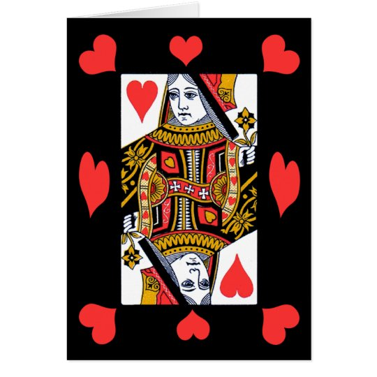 Queen of Hearts Notecard