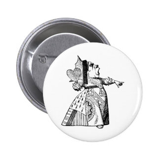 Queen of Hearts - Off with her head! 6 Cm Round Badge