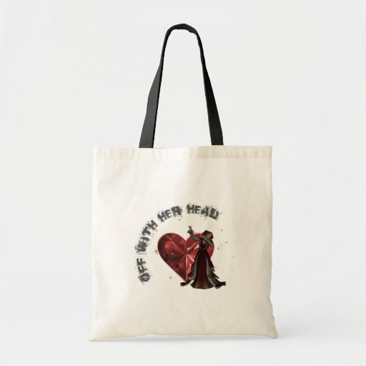 Queen Of Hearts - Off With Her Head Canvas Bags