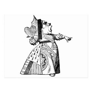 Queen of Hearts - Off with her head! Postcard