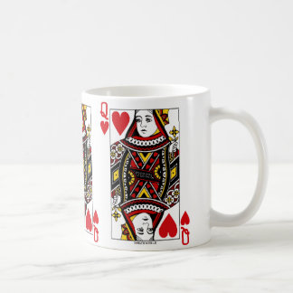 Queen Of Hearts Playing Card Coffee Mug