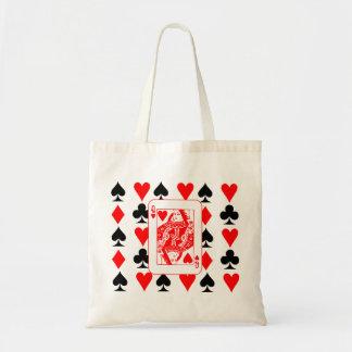 queen of hearts,poker tote bag