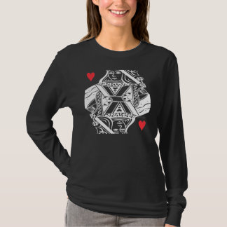 Queen of Hearts Vector Graphic T-Shirt
