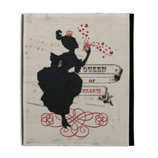 Queen of Hearts Vintage Graphic iPad Case