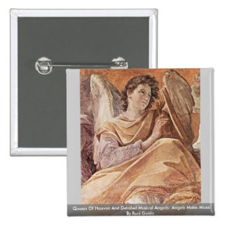 Queen Of Heaven And Detailed Musical Angels 15 Cm Square Badge