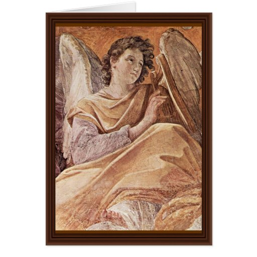 Queen Of Heaven And Detailed Musical Angels Greeting Cards