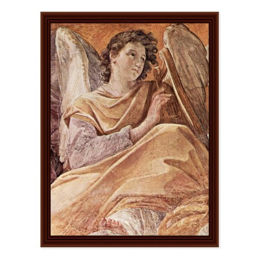 Queen Of Heaven And Detailed Musical Angels Postcards