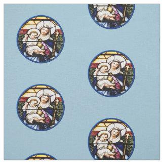 Queen of Heaven & Baby Jesus Fabric