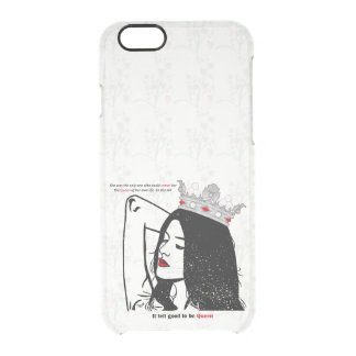 Queen Of Her Own Life Clear iPhone 6/6S Case